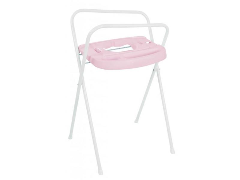 Bebe-jou Kovový stojan Click na vaničku 98cm světle růžový