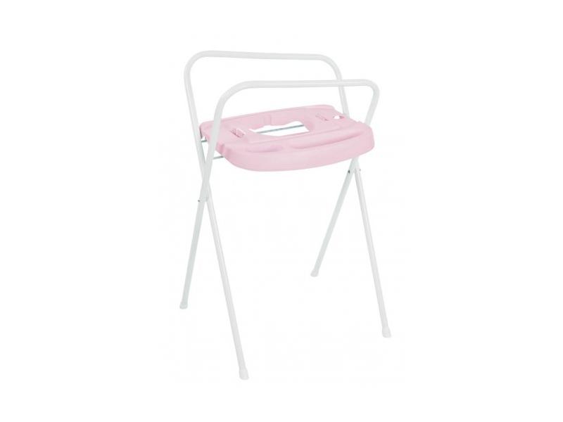 Bebe-jou Kovový stojan Click na vaničku 103cm světle růžový