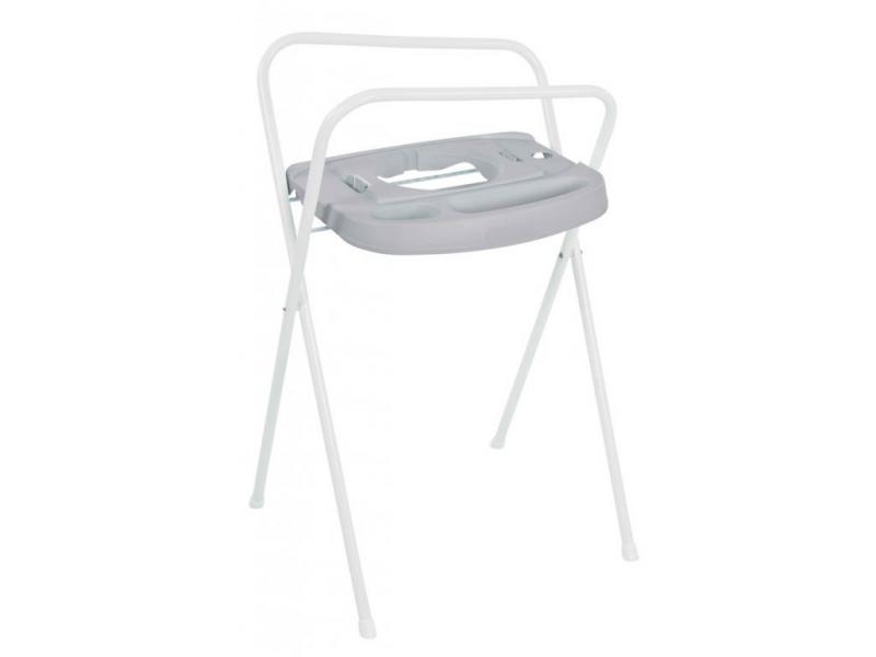 Bebe-jou Kovový stojan Click na vaničku 103cm světle šedý
