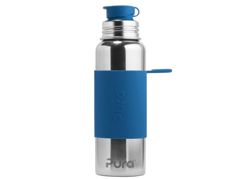 Nerezová láhev se sportovním uzávěrem 850ml - modrá 1