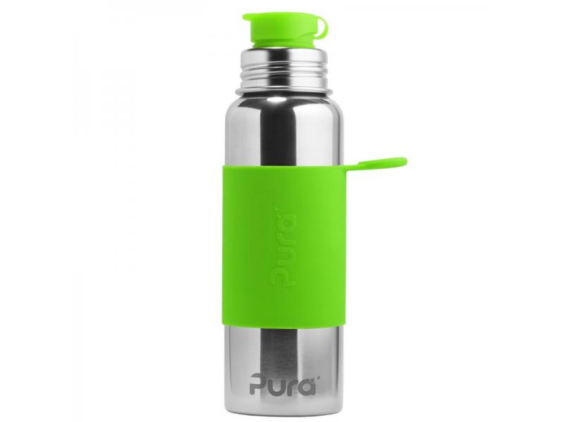 Pura Nerezová láhev se sportovním uzávěrem 850ml - zelená