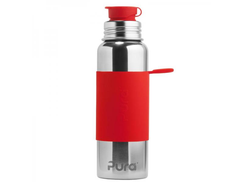 Pura Nerezová láhev se sportovním uzávěrem 850ml - červená
