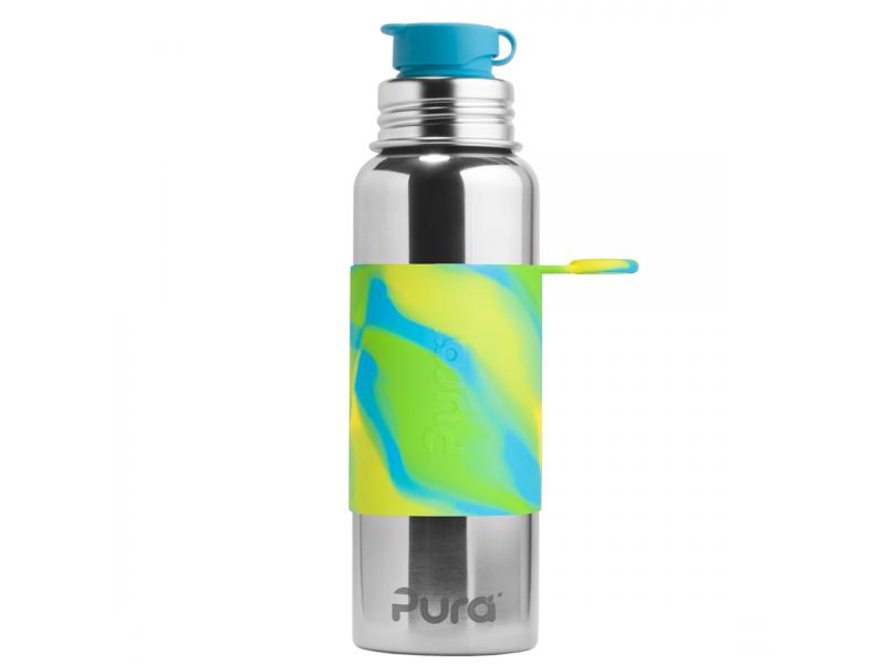 Pura Nerezová láhev se sportovním uzávěrem 850ml - zelená-aqua