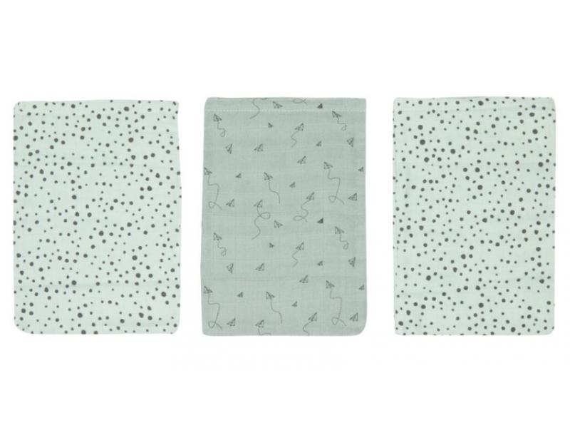 Mušelínové žínky Fabulous Paper Planes 3ks 1