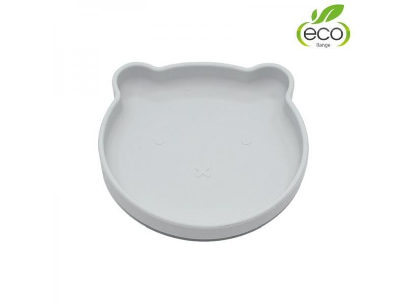 silikonový talíř s přísavkou Bear Grey 1