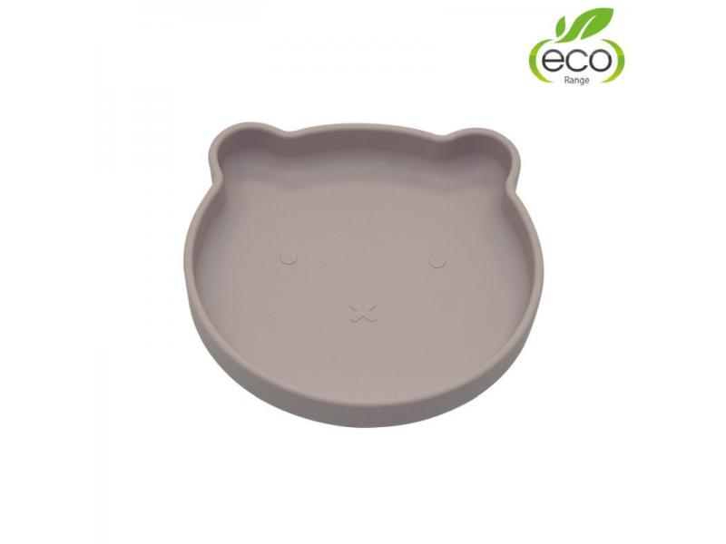 silikonový talíř s přísavkou Bear Pastel Pink 1