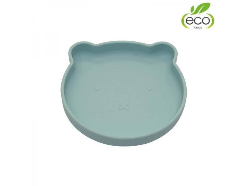 silikonový talíř s přísavkou Bear Pastel Blue 1