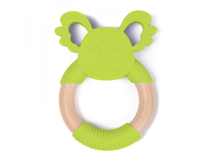 kousátko B-TEETHER ANIMAL WOOD Green Koala 1