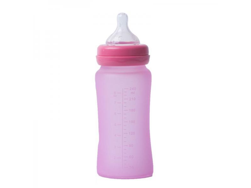 skleněná láhev B-Thermo 240ml Pink 1