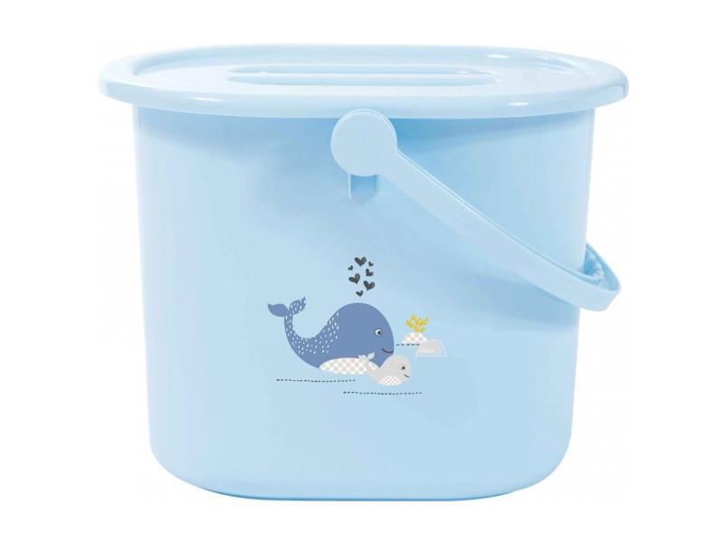 Kyblík na pleny s víkem Wally Whale dream blue 1