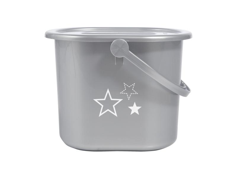 Kyblík na pleny s víkem Silver Stars 1