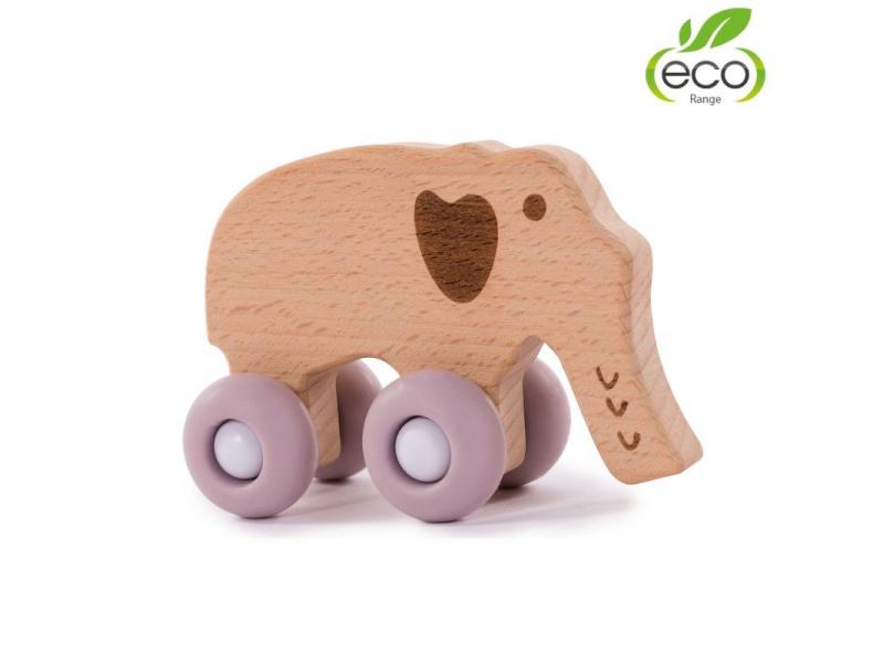 dřevěná hračka B-WOODY Elephant Pastel Pink 1