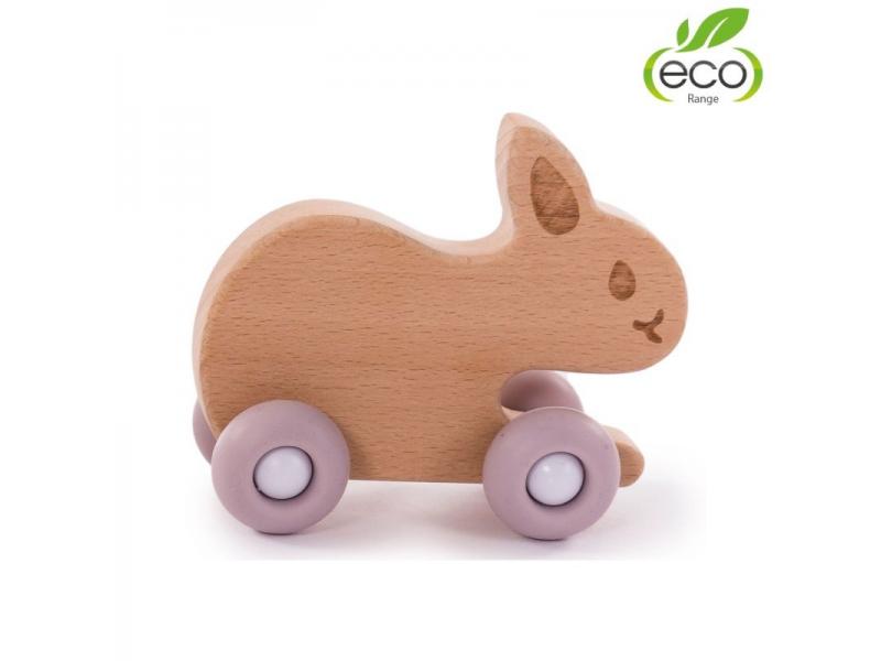 dřevěná hračka B-WOODY Rabbit Pastel Pink 1