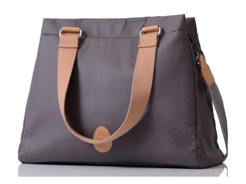PacaPod RICHMOND šedá - kabelka i přebalovací taška