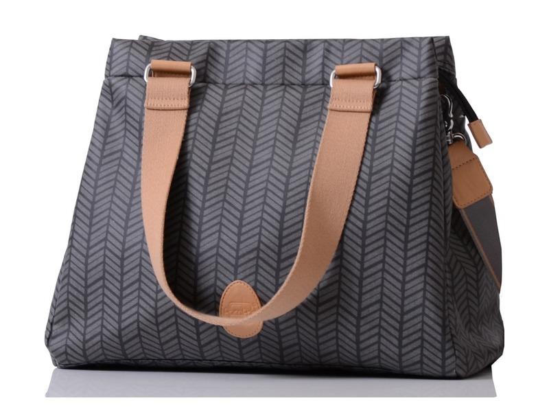 PacaPod RICHMOND černá rybí kost - kabelka i přebalovací taška 7da3e836ce4