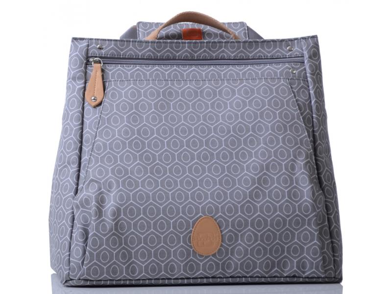 PacaPod LEWIS šedá - kabelka i přebalovací taška