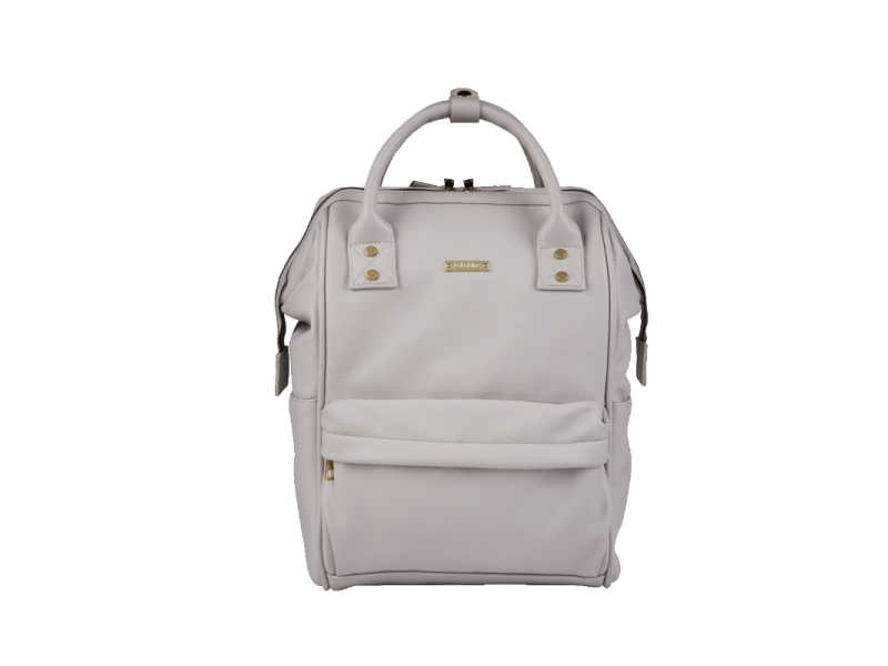Bababing Přebalovací taška-batoh Mani, Grey Blush Leatherette