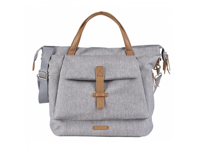 Přebalovací taška-batoh velká Erin, Grey Marl 1