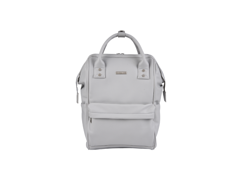 Přebalovací taška-batoh Mani, Dove grey leatherette 1