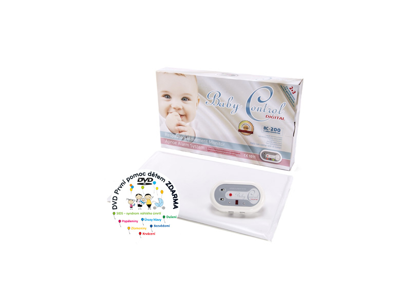 Baby Control Monitor dechu Digital BC -200 s jednou senzorovou podložkou