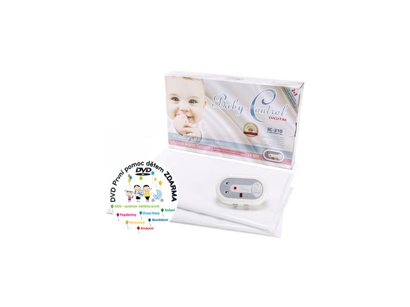 Baby Control Monitor dechu Digital BC-210 se dvěma senzorovými podložkami