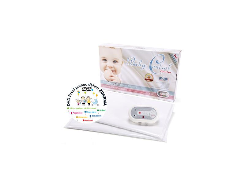 Baby Control Monitor dechu Digital BC-220i pro dvojčata se dvěma senzorovými podložkami