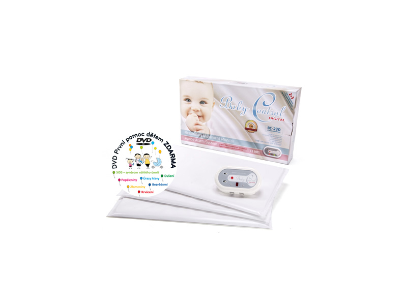 Baby Control Monitor dechu Digital BC-230 se třemi senzorovými podložkami