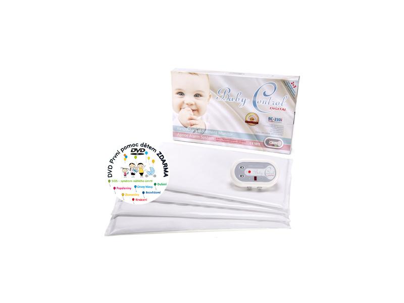 Baby Control Monitor dechu Digital BC-230i pro dvojčata se čtyřmi senzorovými podložkami