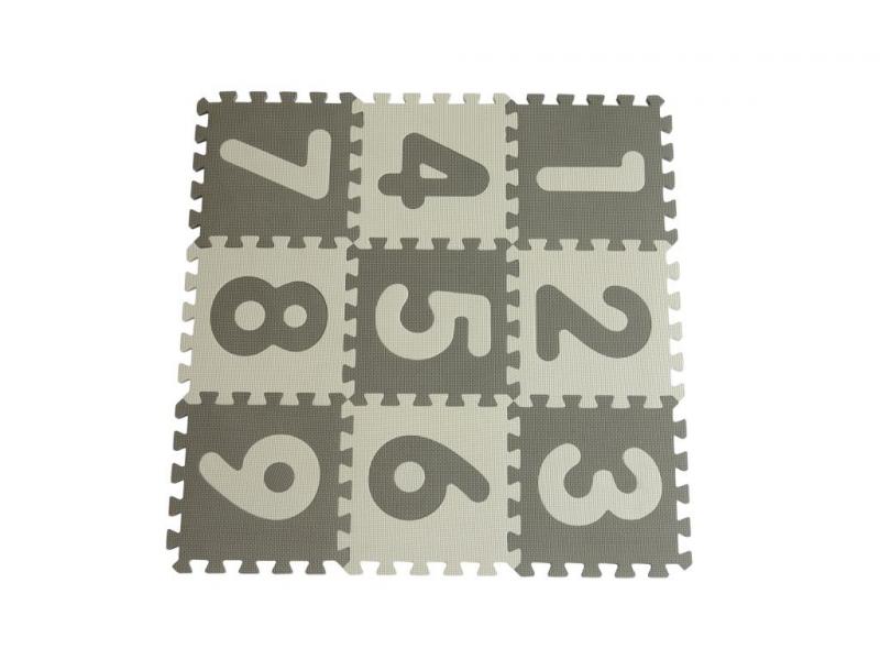 Hrací podložka puzzle Grey s čísly 90x90 cm 1