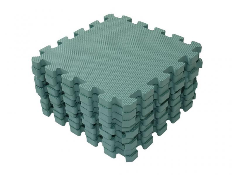 Hrací podložka puzzle Dusty Green 90x90 cm 1