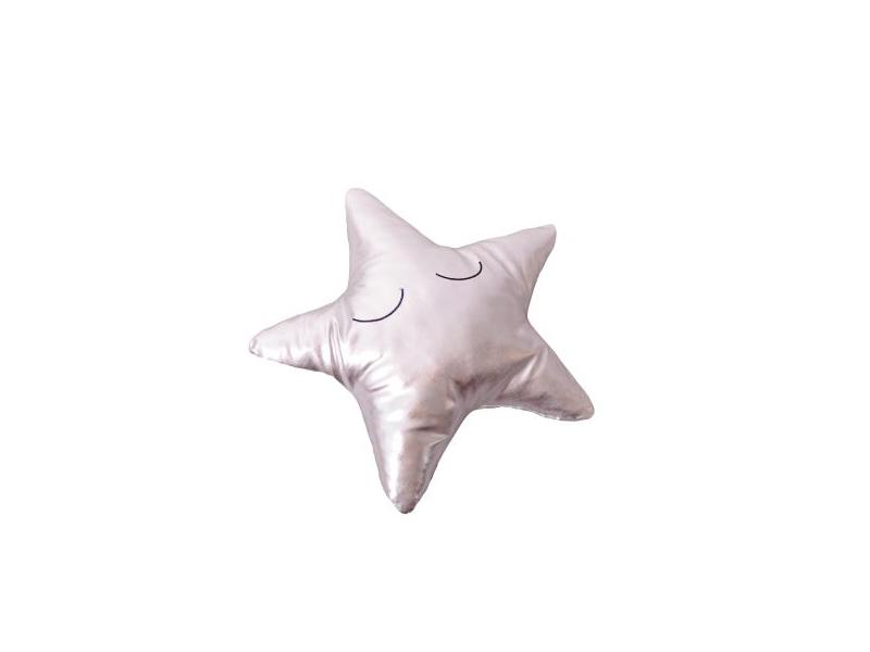 Měkký polštářek - stříbrná hvězda 1