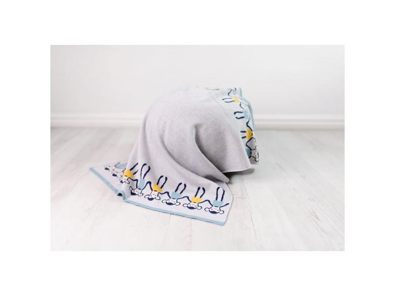 Pletená deka - opičky 1