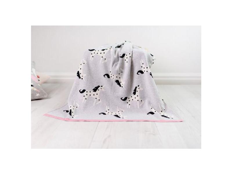 Pletená deka - jednorožci 1