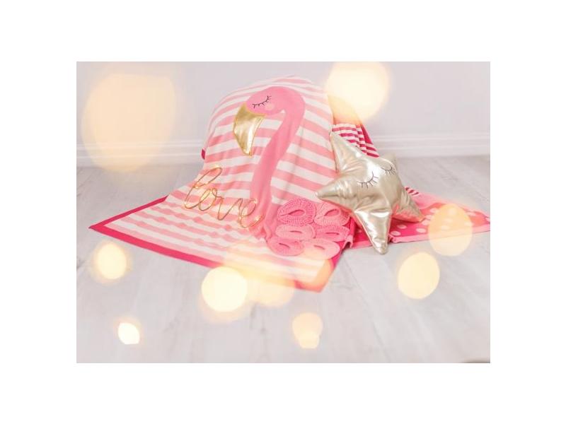 Pletená deka - plameňáci 1