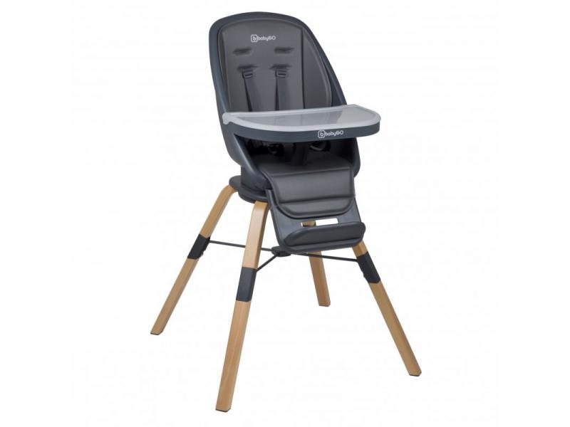 Jídelní židlička CAROU 360° Grey 1
