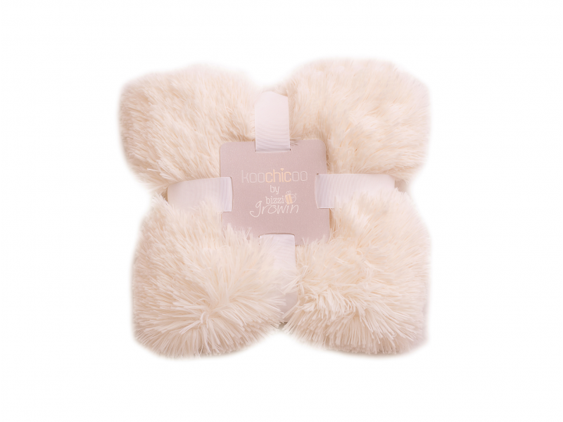 Luxusní deka - krémová 1