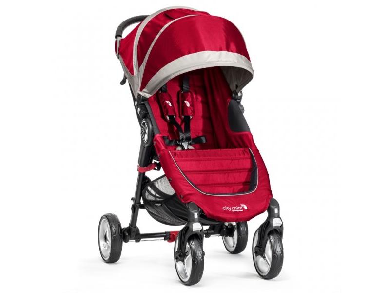 Baby Jogger kočárek CITY MINI 4 KOLA barva CRIMSON/GRAY