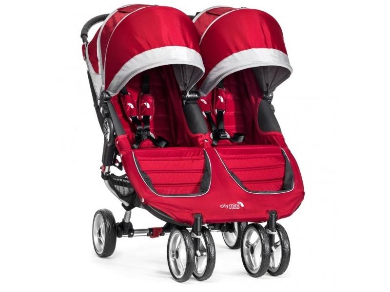 Baby Jogger sourozenecký kočárek CITY MINI DOUBLE barva CRIMSON/GRAY