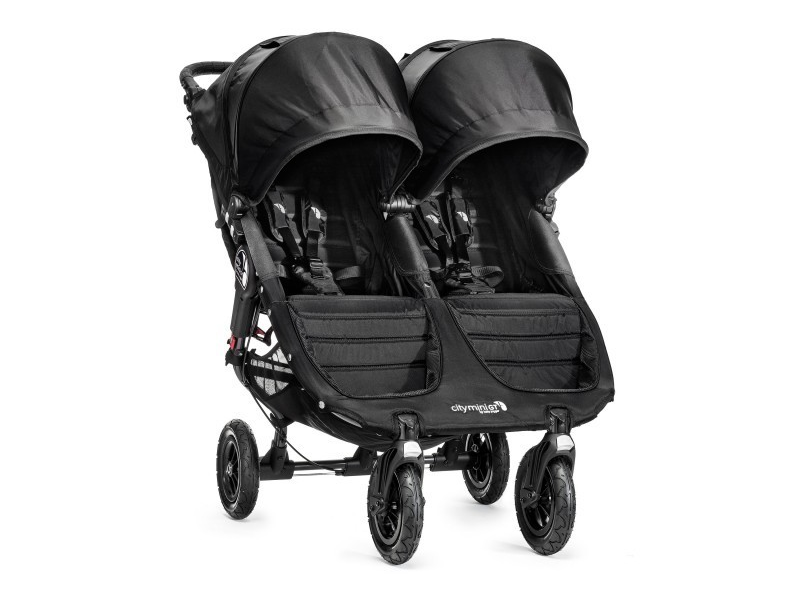 sourozenecký kočárek CITY MINI GT DOUBLE BLACK/BLACK 1