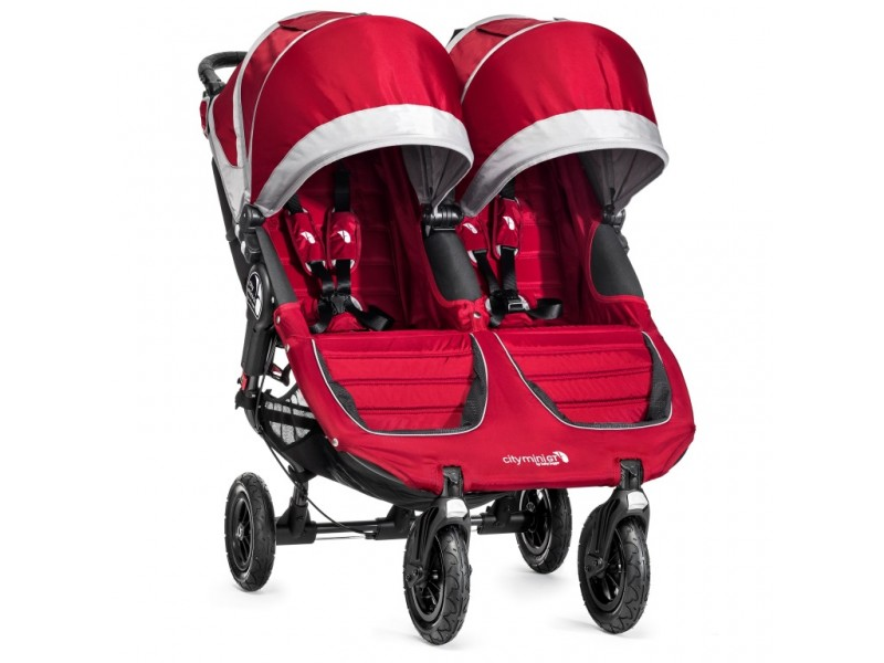Baby Jogger sourozenecký kočárek CITY MINI GT DOUBLE CRIMSON/GRAY