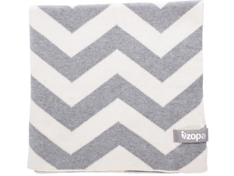 Zopa Dětská deka ZigZag, Grey