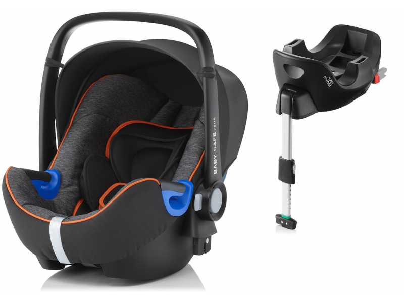 Britax Römer Autosedačka Baby-Safe i-Size Bundle Flex Black Marble 2017