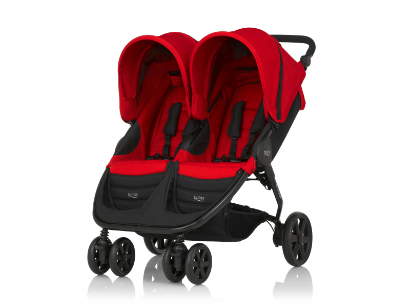 Britax Kočárek B-AGILE DOUBLE, Flame Red
