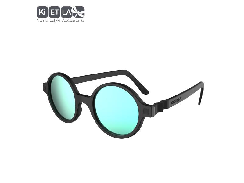 Ki ET LA Dětské sluneční brýle CraZyg-Zag 9-12 let lenonky - černé zrcadlovky