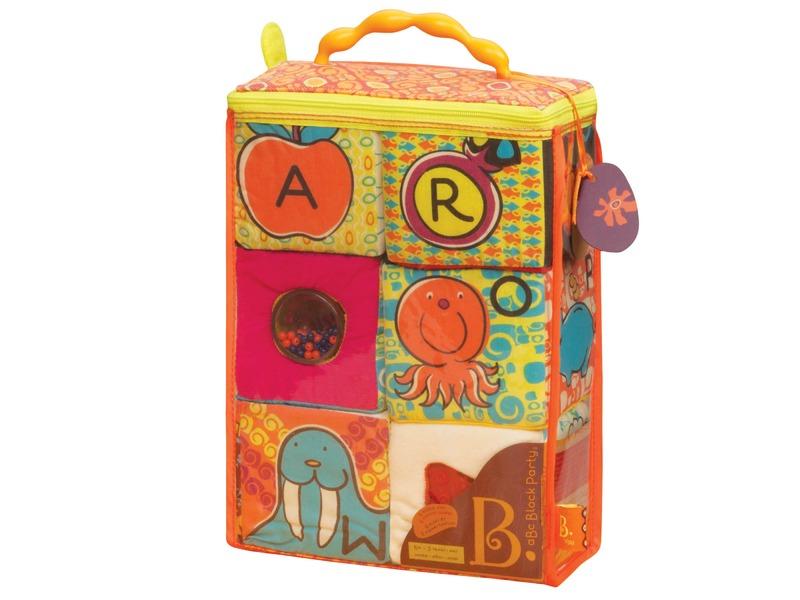 Textilní kostky ABC Block Party 1