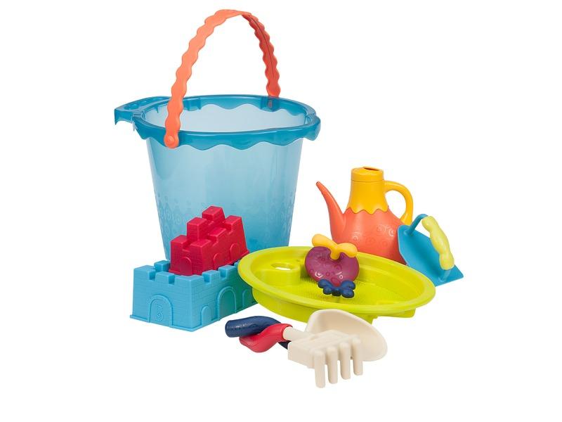 B-Toys Velká sada hraček na písek v kyblíku 9 ks