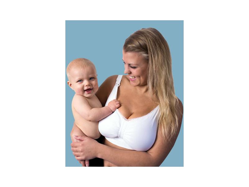 Podprsenka ke kojení push up s gelovou kosticí bílá XL 1