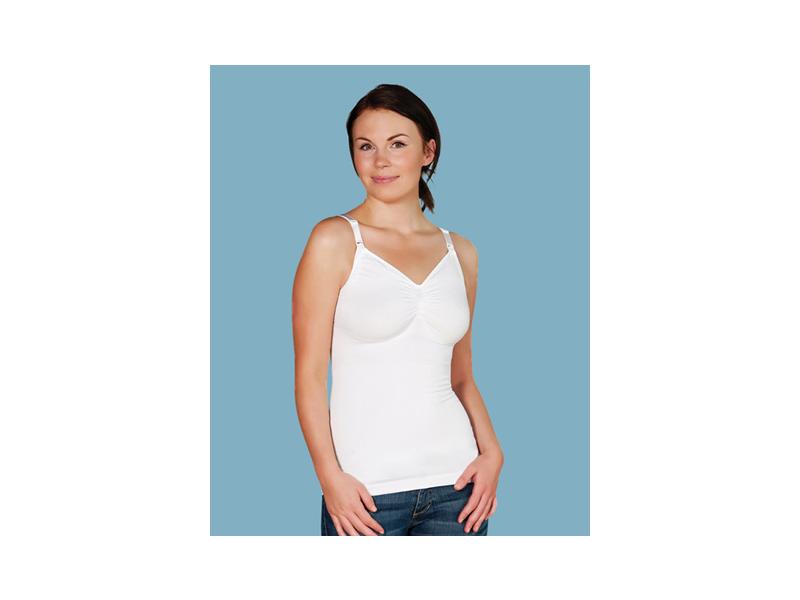 Carriwell Košilka bezešvá stahovací s klipem ke kojení bílá M