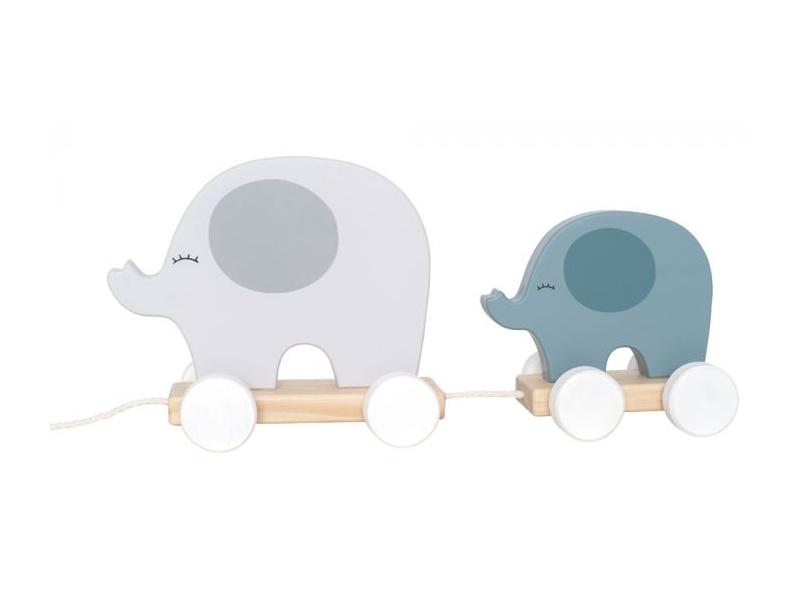 Hračka na tahání slon šedý 1