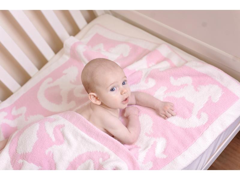 Žinylková deka růžová 1